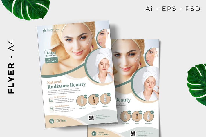 Skin care  Flyer template promotion