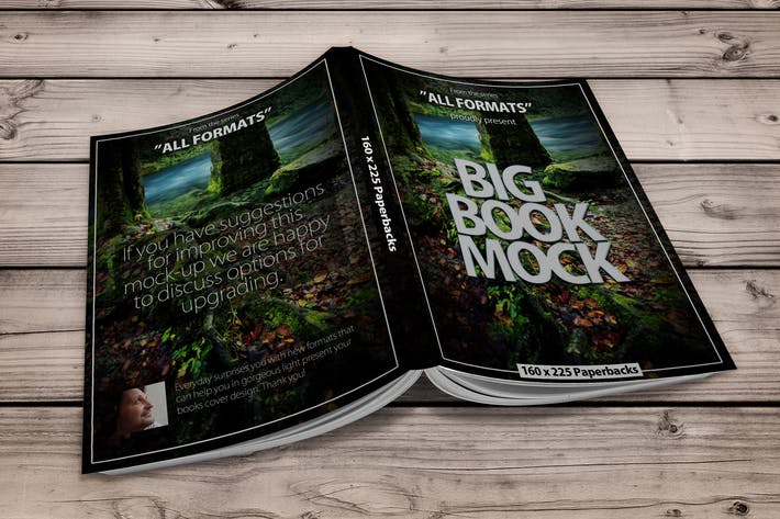 Cover Image For Book Mockup Dimension 160 x 225 mm - Paperbacks