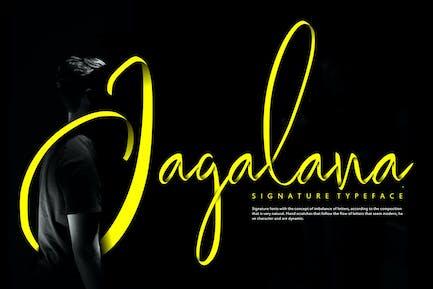 Jagalana | Signature Typeface