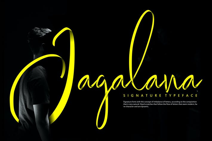Thumbnail for Jagalana | Signature Typeface