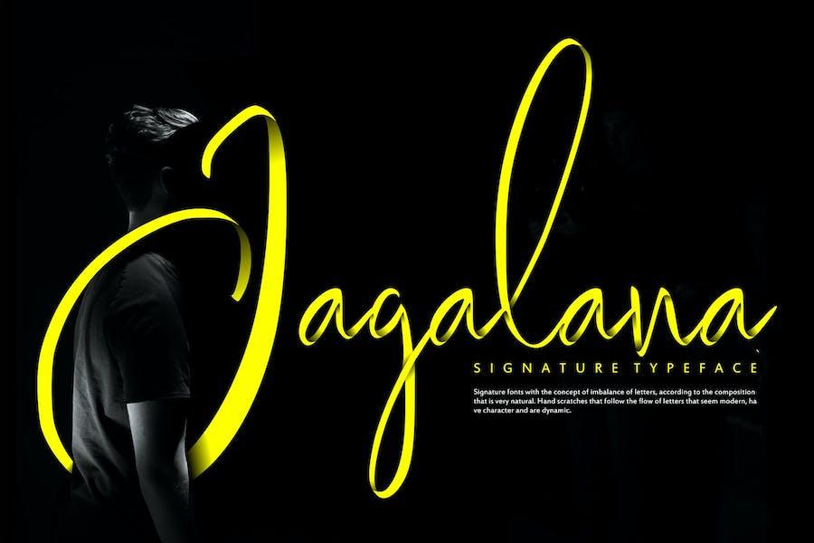 Jagalana   Signature Typeface