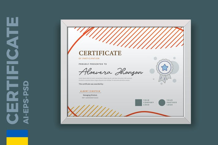 Thumbnail for Vintage Geometry Certificate/ Diploma Template Pro