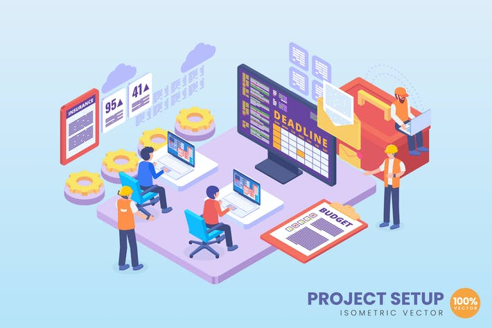 Thumbnail for Isometric Project Setup Concept