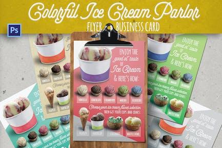 Modern Ice Cream Parlor Flyer