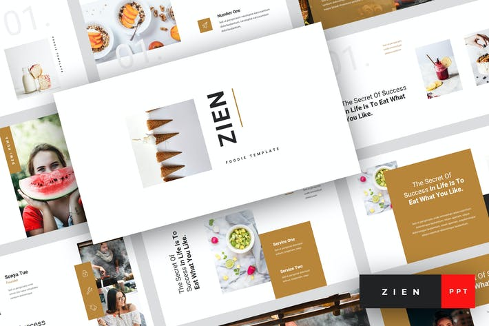 Thumbnail for Zien - Food PowerPoint Template