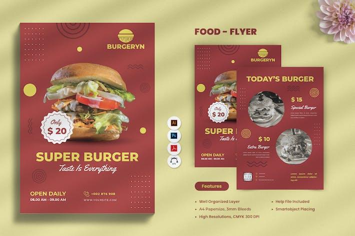 Thumbnail for Burger Food dépliant