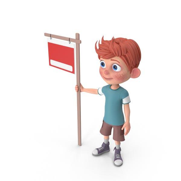 Thumbnail for Cartoon Boy Charlie Sign