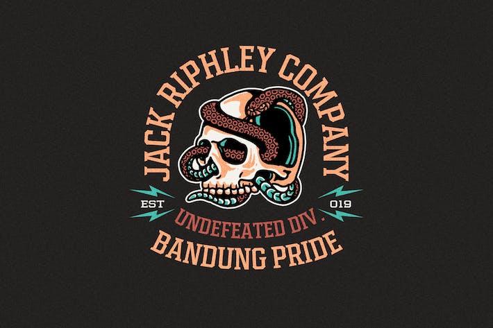 Thumbnail for Skull n Snake Badges Logo