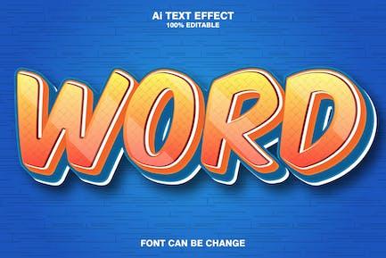Word 3d text effect