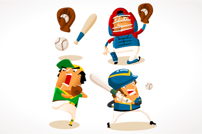 Thumbnail for Baseball Sport Player. Detailed vector illustratio