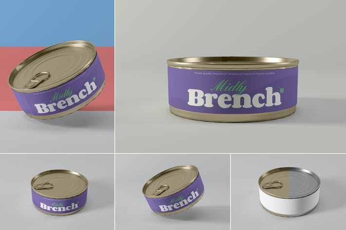 Thumbnail for Food Tin Can Mockups
