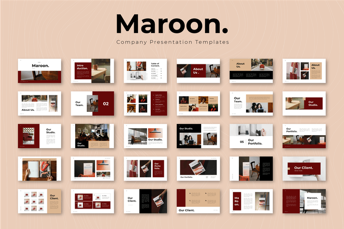 Thumbnail for Maroon - Company Presentation Template