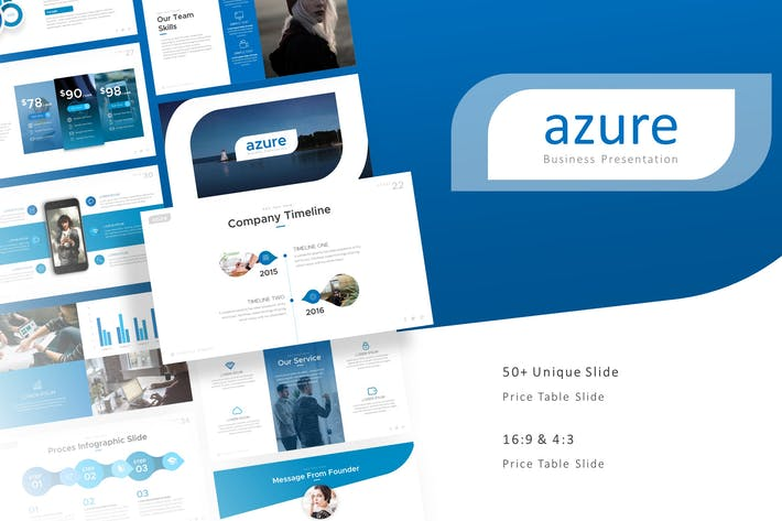 Thumbnail for Azure Professional Presentation Template