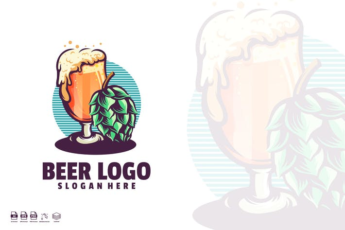 Thumbnail for Beer logo template