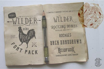 Wilder and Handrawn Font Pack