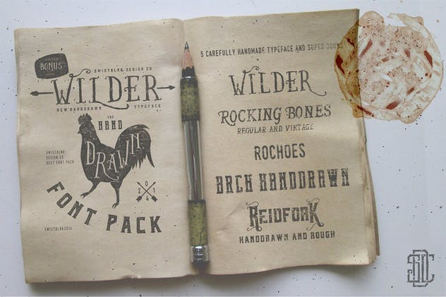 Wilder and Handrawn Font Pack - product preview 0