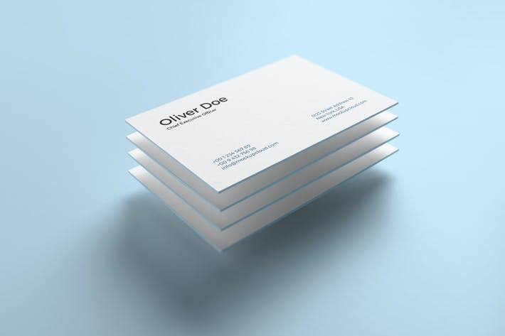 Thumbnail for Business Cards Mockup Vol. 5