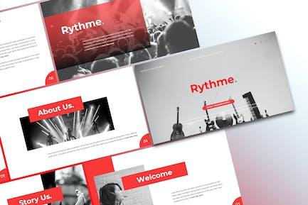 Rythme - Music PowerPoint Template
