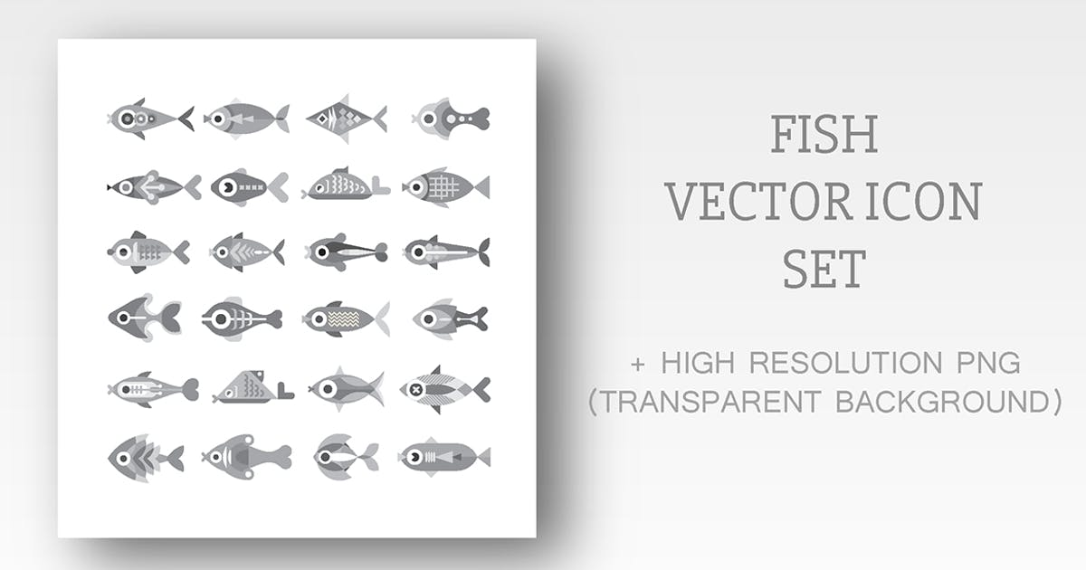 Download Fish vector icon set (3 options) by danjazzia