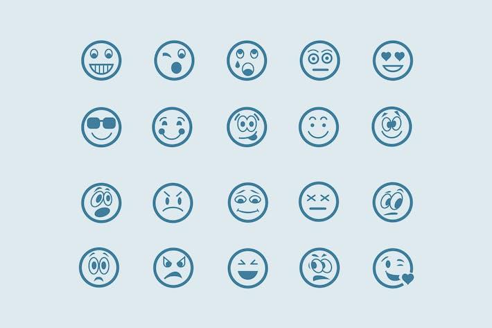Thumbnail for Emoticones de 20 líneas