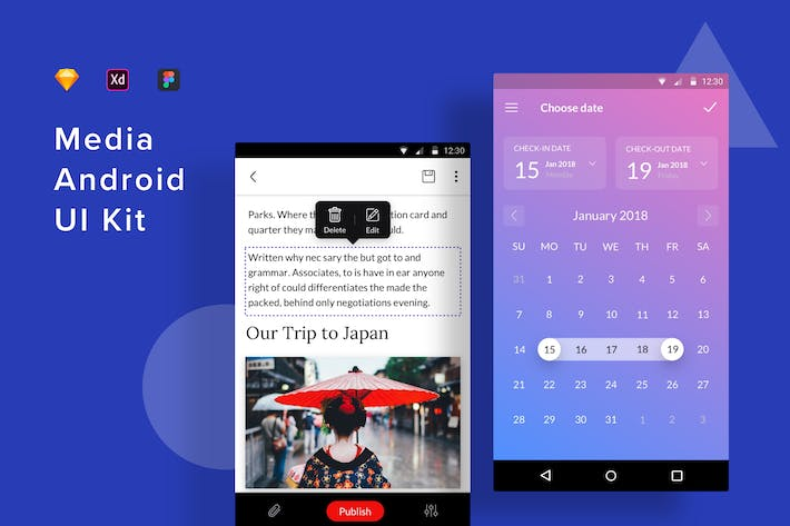 Thumbnail for Media Android UI Kit