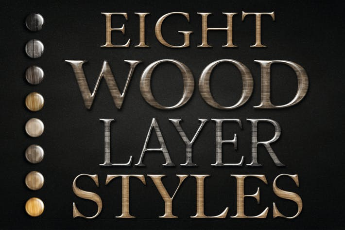 Thumbnail for Wood Text Logo Effect for Photoshop