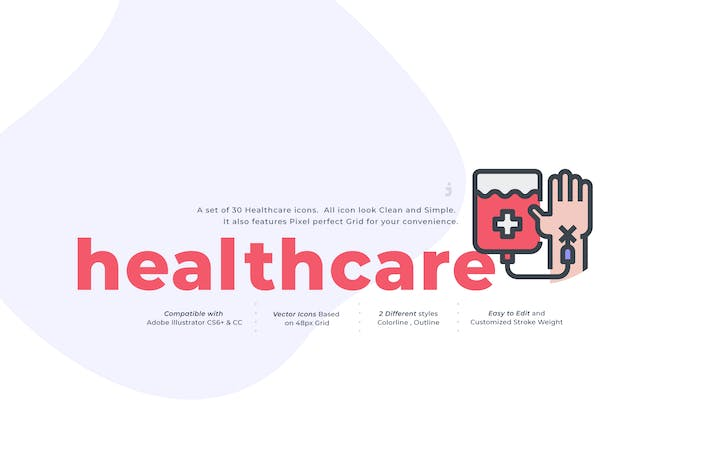 Thumbnail for 30 Healthcare Icon  Set
