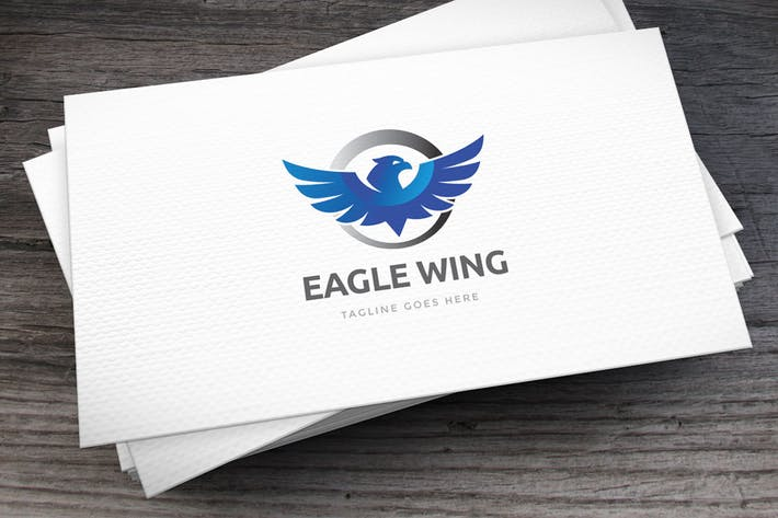 Thumbnail for Eagle Wing Logo Template