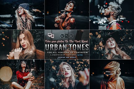 Urban Portrait Photoshop Actions and Presets