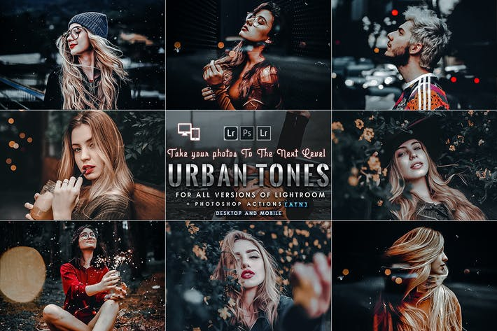 Cover Image For Urban Portrait Photoshop Actions and Presets