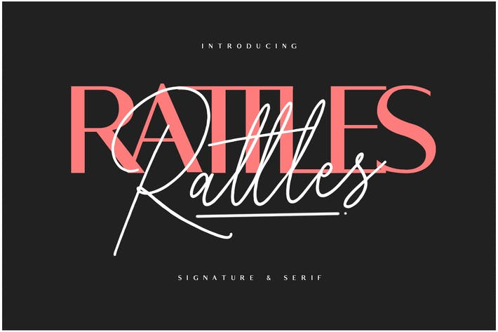 Thumbnail for Rattles Signature Font Duo