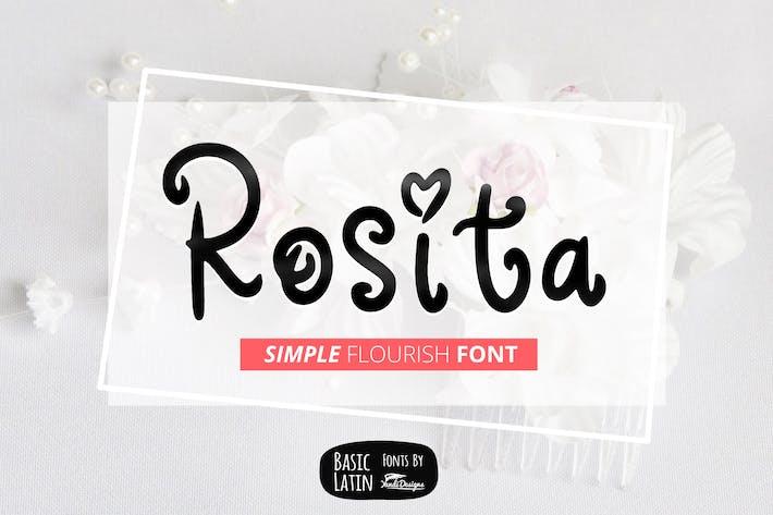 Thumbnail for Rosita Font