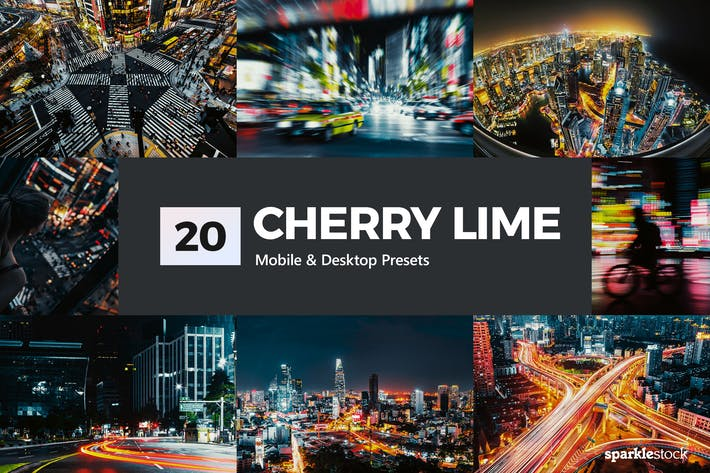 Thumbnail for 20 Cherry Lime Lightroom Presets & LUTs