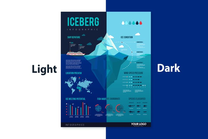 Thumbnail for Infographic Elements for Iceberg