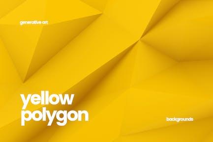 Gelbe Polygon-Hintergründe