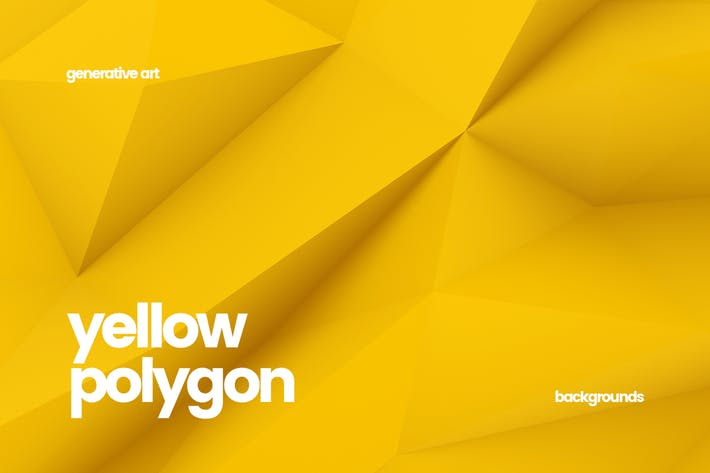 Thumbnail for Yellow Polygon Backgrounds