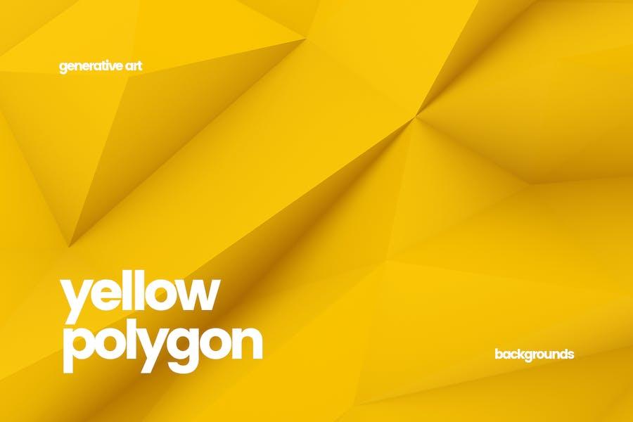 Yellow Polygon Backgrounds