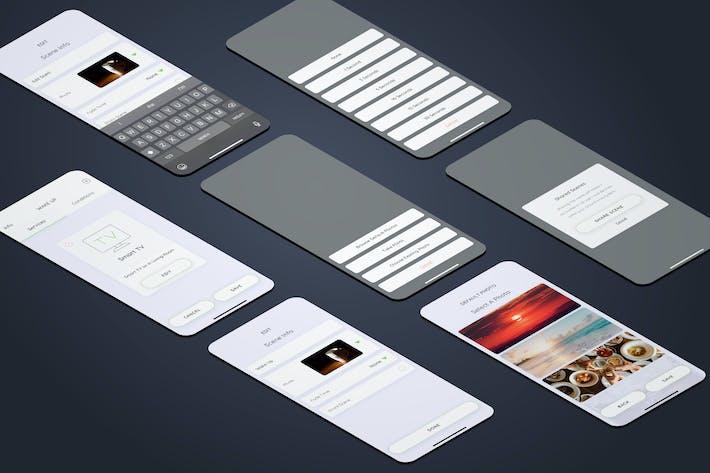 Thumbnail for Wake Up Info Smarthome Mobile UI - FP