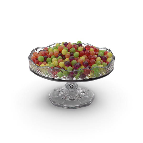 Fancy Crystal Bowl With Spherical Hard Candy