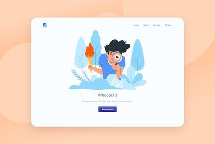 Error page Desktop Illustration