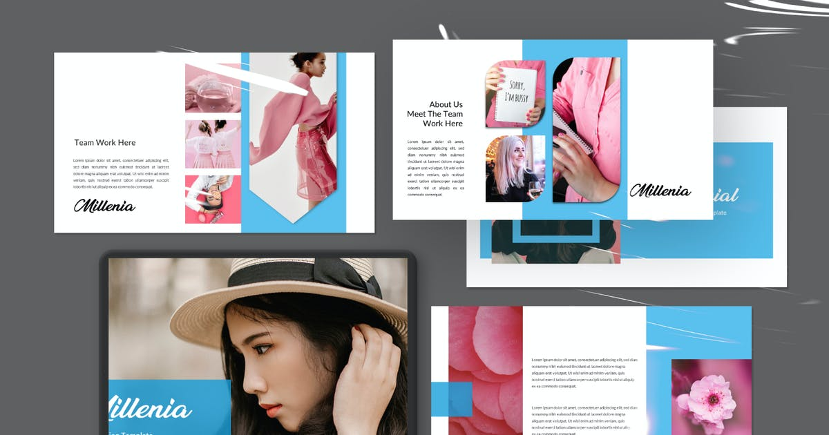 Download Millenia Creative Fashion Powerpoint by templatehere
