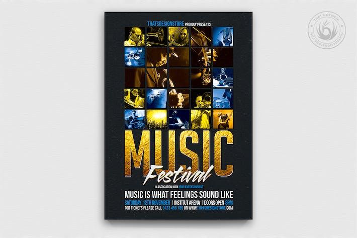 Thumbnail for Music Festival Flyer Template V1