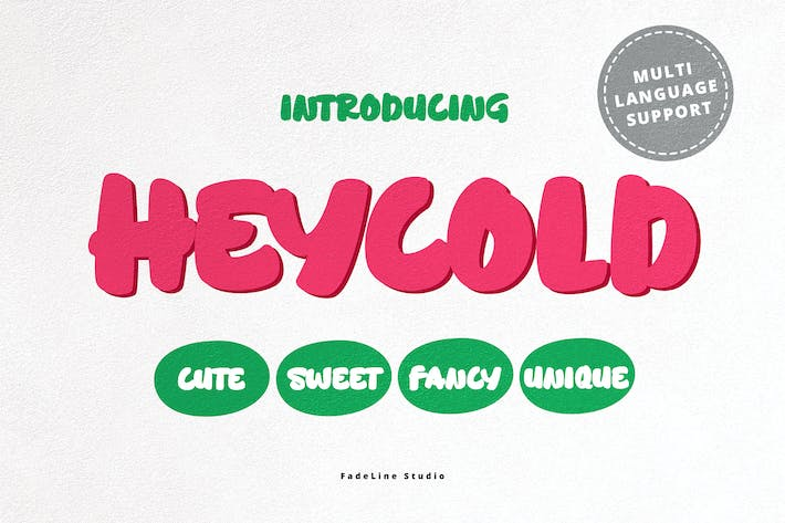 Thumbnail for HEYCOLD CUTE FONT