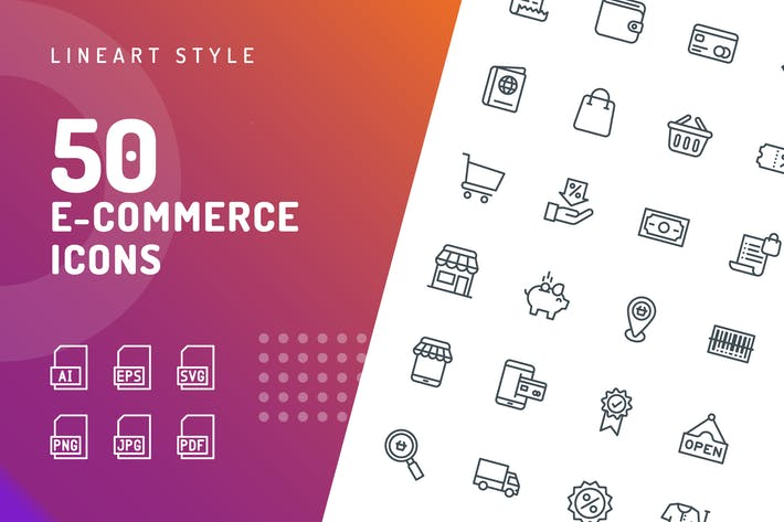 Thumbnail for Ecommerce Line Icons