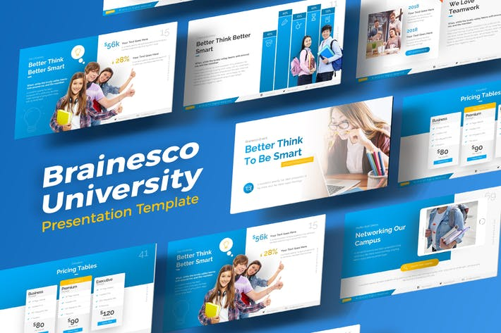 Cover Image For Brainesco Education PowerPoint Presentation Templa