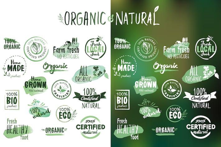 Aufkleber und Abzeichen aus Bio-Produkten