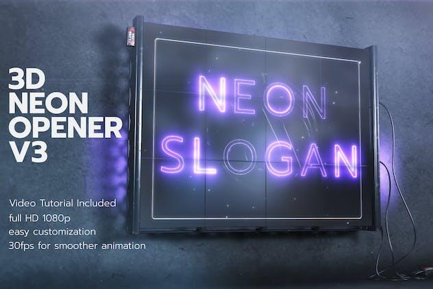 3D Neon Opener V3