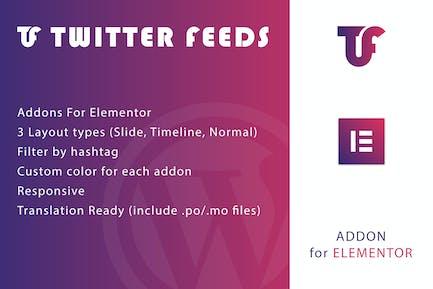 Twitter Feeds for Elementor WordPress Plugin