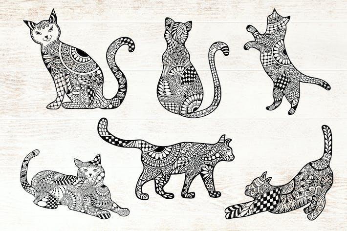 Thumbnail for Cats Doodle art - Mandala Cat
