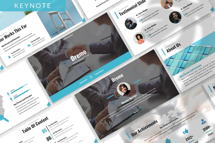 Thumbnail for Dremo - Business Keynote Template